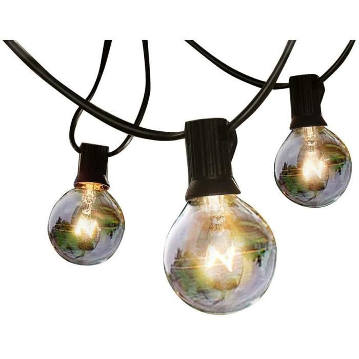 guirlande solaire exterieur Guirlande Guinguette Exterieur, BEIEN Guirlandes de lumi&egravere solaire avec ampoule blanche chaud630