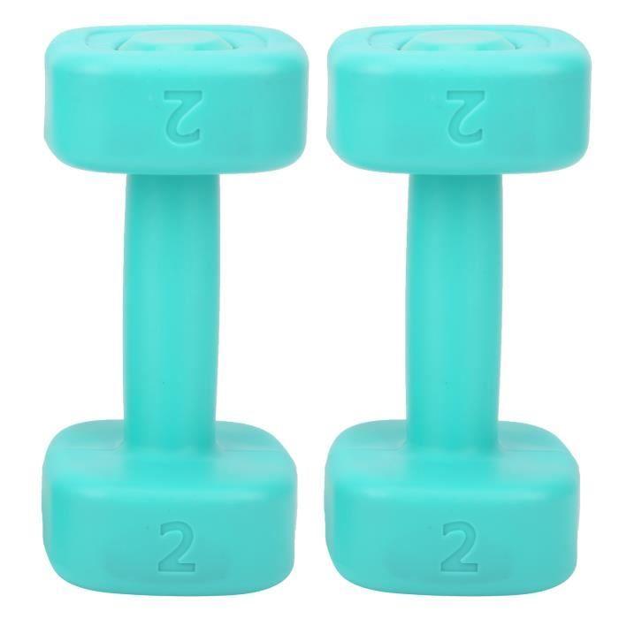 Drfeify Petit haltère 2pcs Haltère 4lb Haltérophilie Fitness Équipement de Perte de Poids de Sport Yoga Musculation(Vert )