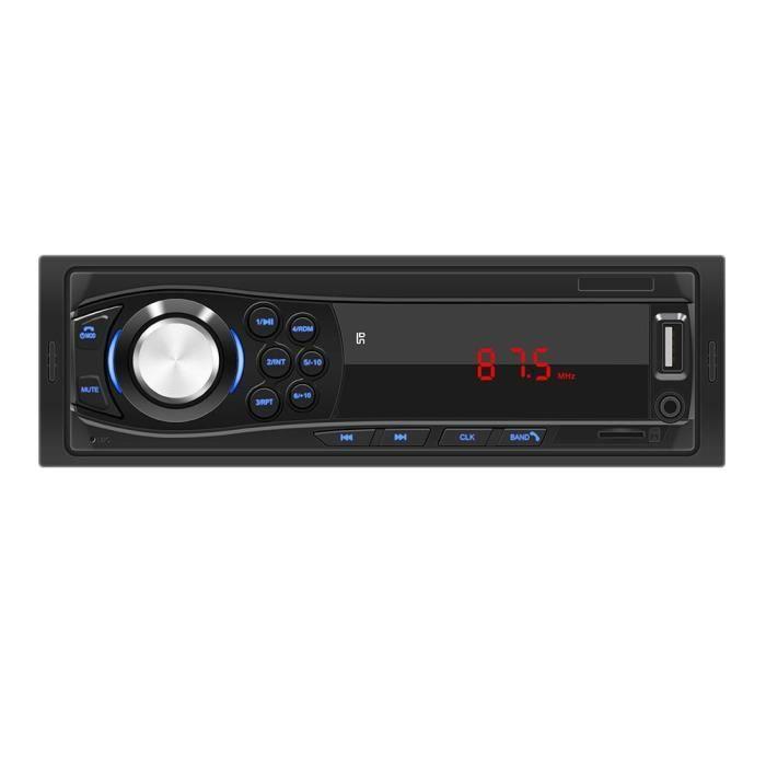 Couleur 1028 Autoradio électrique sans fil, Bluetooth, 12V, FM, USB-SD-AUX, lecteur MP3, avec télécommande, e