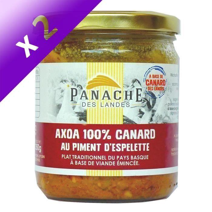 [LOT DE 2] PANACHE DES LANDES Axoa de Canard au Piment d'Espelette 350 g
