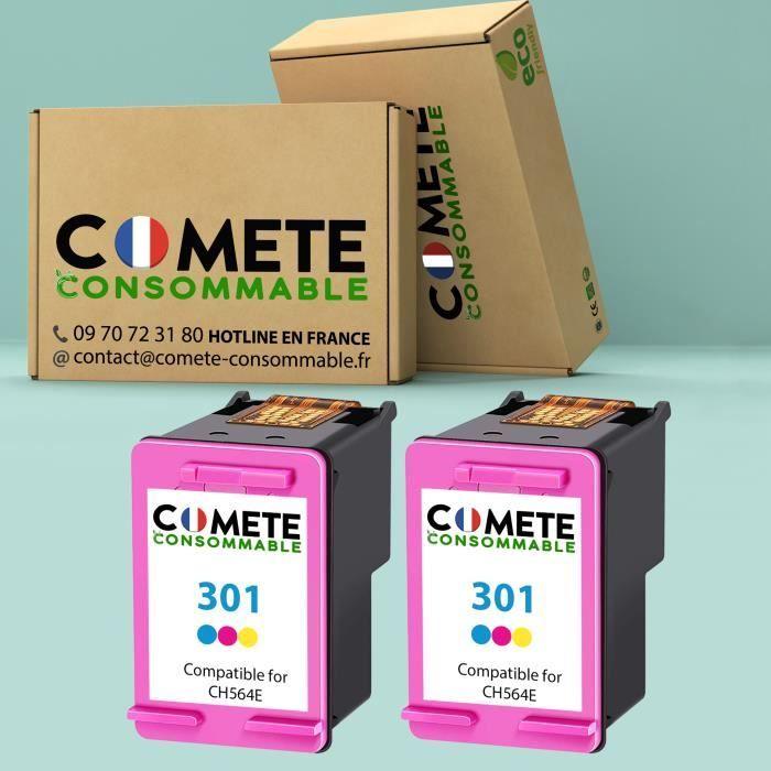 301 Pack de Cartouche compatible HP 301 CH562EE Couleur encre pour Imprimante pour HP Officejet Envy Deskjet