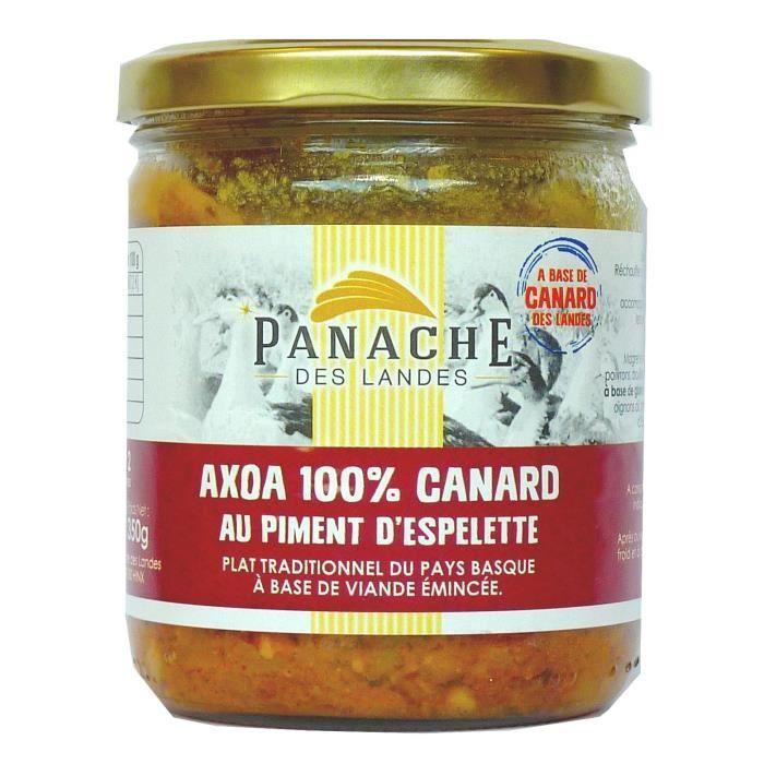 PANACHE DES LANDES Axoa de Canard au Piment d'Espelette 350 g
