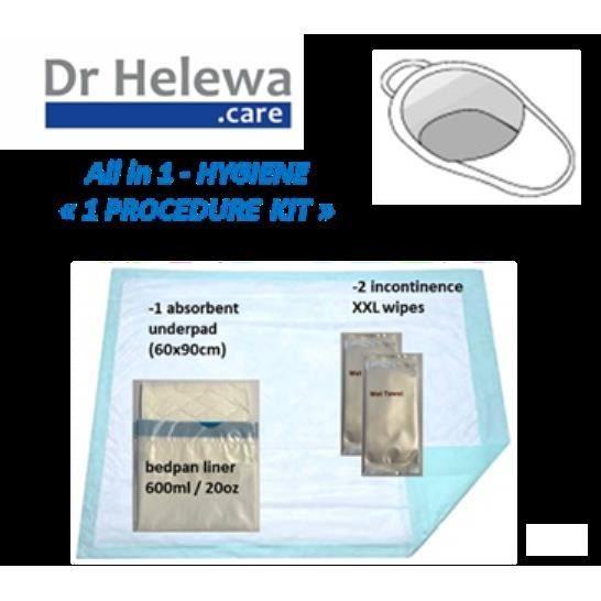 LCH - Kit Hygiène pour bassin de lit - 4 articles