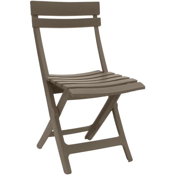 GROSFILLEX Chaise pliante Miami - Taupe
