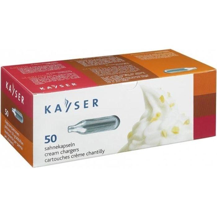 Siphons - Cartouches de gaz N2O pour siphon - Pack de 50 - Kayser