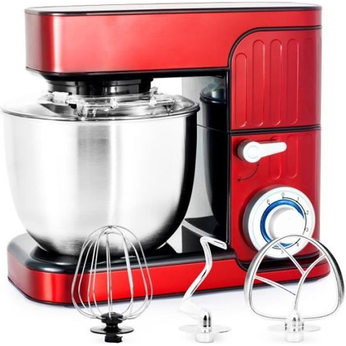 ROBOT PÉTRIN 5.5L RED 6 VITESSES + PULSE MODÈLE ANTARA KITCHENCOOK