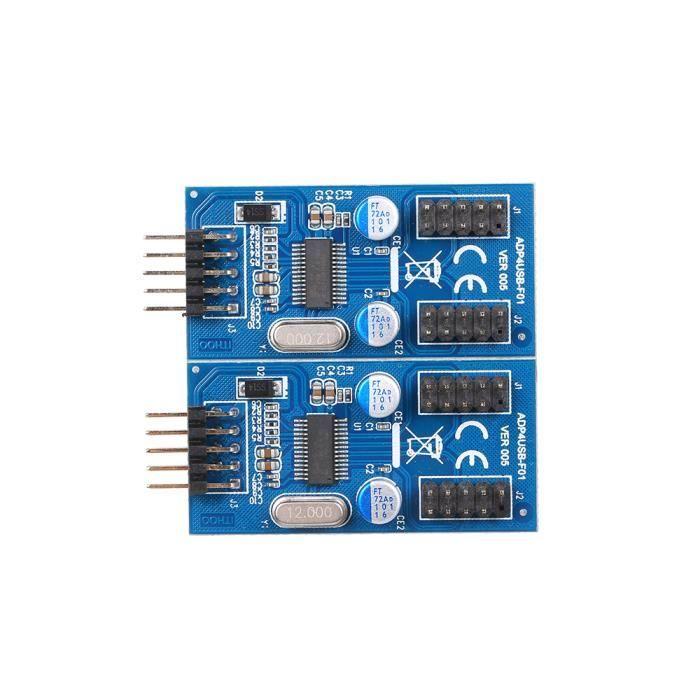 9Pin USB Header Male 1 à 4 Female Extension Cable Card USB HUB Câble de carte adaptateur