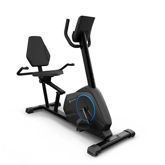 Capital Sports Epsylon Relax Vélo d'appartement silencieux à résistance magnétique - volant d' inertie 12 kg - noir