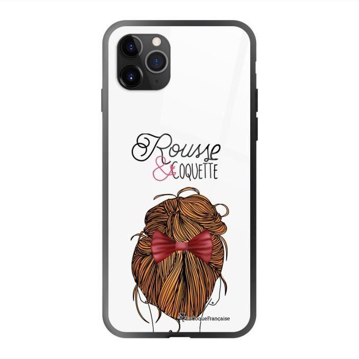 Coque en verre trempé iPhone 11 Pro Rousse et coquette Ecriture Tendance et Design La Coque Francaise.