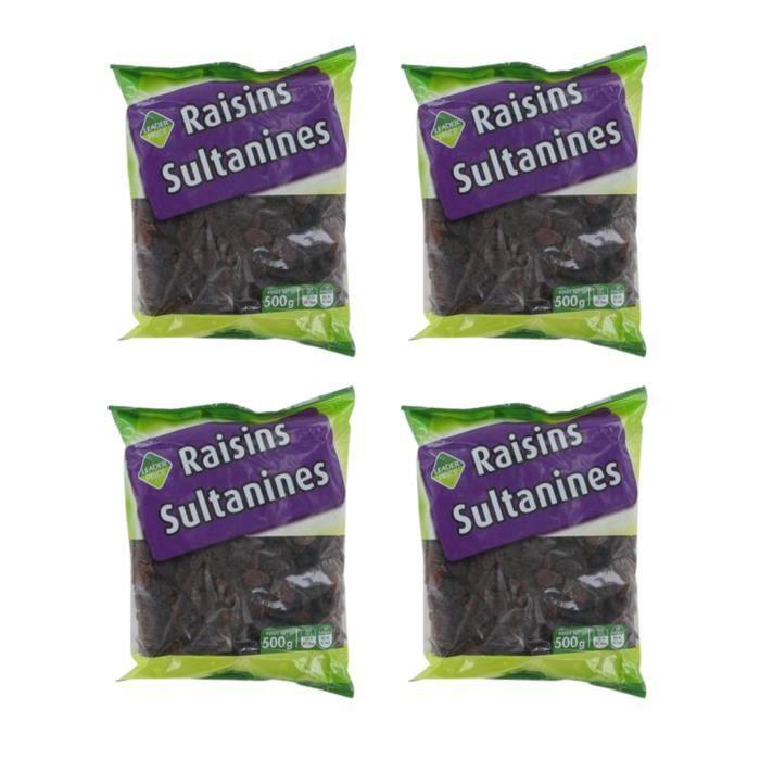 [Lot de 4] Raisins sultanines - 500g par paquet