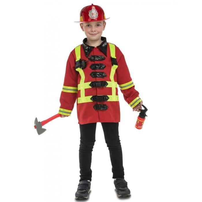 Déguisement pompier avec accessoires enfant