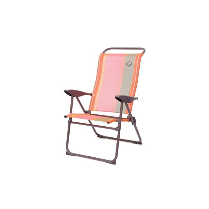 Fauteuil de camping 5 positions - Structure Pliable Orange