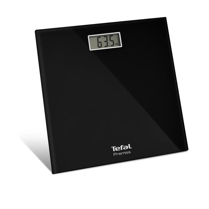 Tefal PP1060, Pèse-personne électronique, 150 kg, 100 g, kg, lb, ST, Carré, Noir