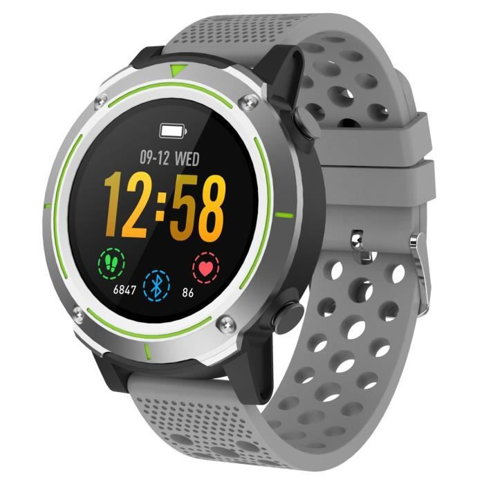 WEE PLUG Explorer 4 - Montre connectée GPS - Multisports - Cardio - Bluetooth - IP68 - Antracite Grey
