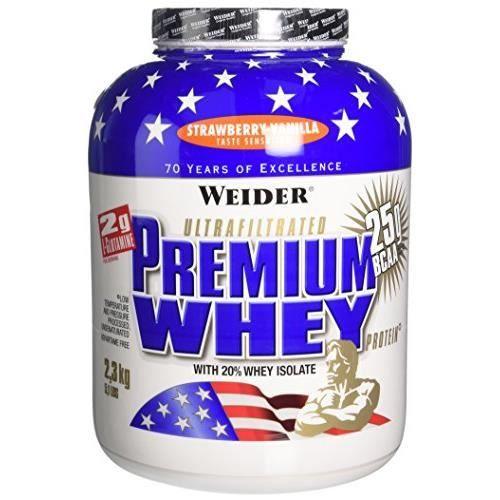 WEIDER Sachet de Premium Whey 2.3kg Fraise-Vanille