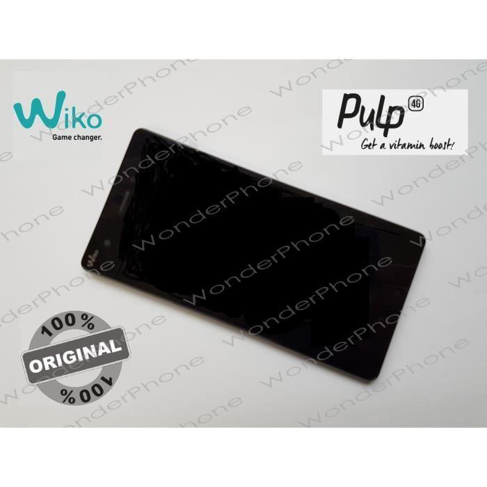 Ecran Complet Vitre Tactile LCD Assemblé WIKO PULP 4G GARANTIE 100% Original WIKO France