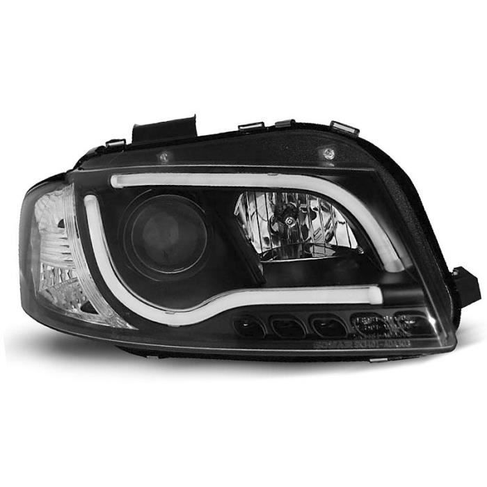 U54 Shop Import Paire de Feux phares A3 8P 03-08 Daylight LED Noir