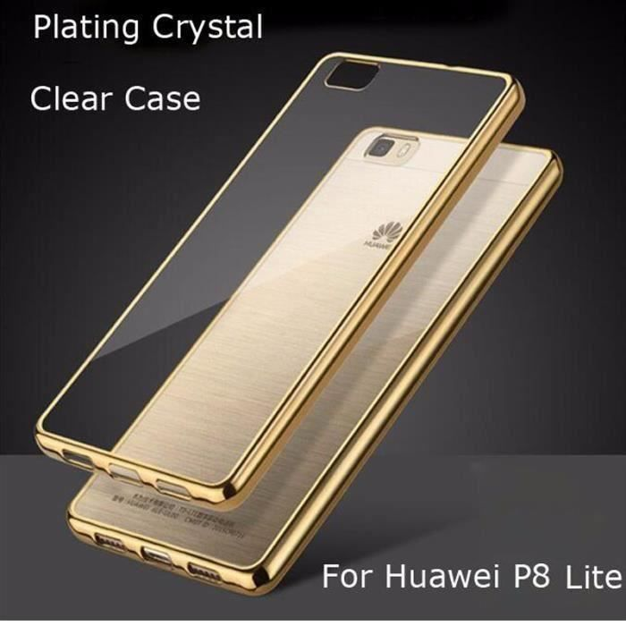coque housse etui silicone gel tpu huawei p8 lite or. Black Bedroom Furniture Sets. Home Design Ideas