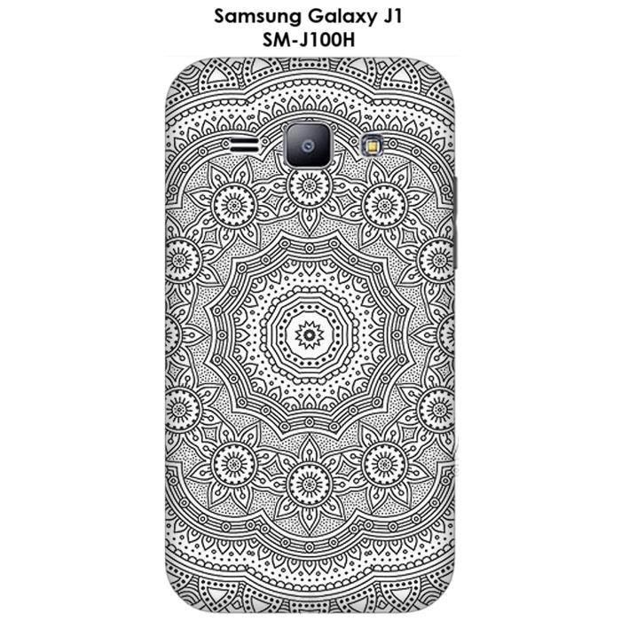 Coque Samsung Galaxy J1 - SM-J100H Mandala rosace - Cdiscount ...