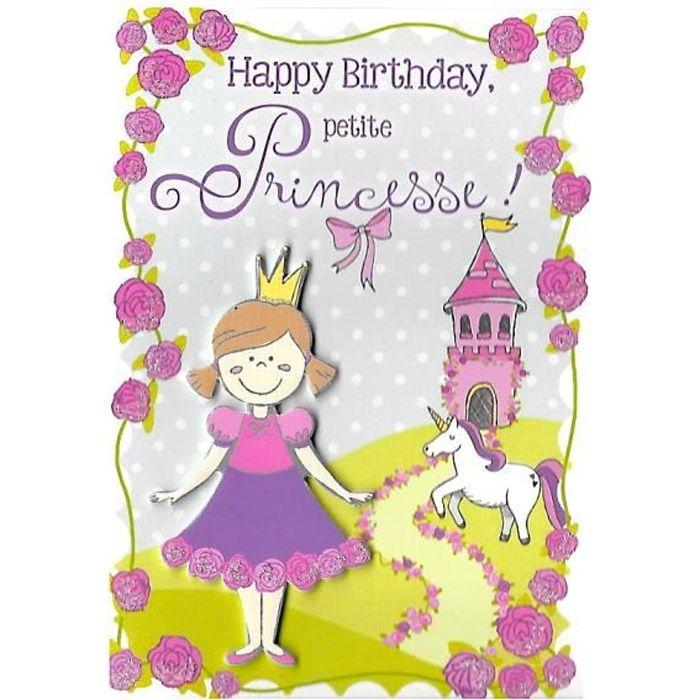 Carte Anniversaire Enfant Princesse Achat Vente Pas Cher
