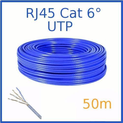 c ble ethernet cat 6 utp bleu 50m achat vente c ble r seau c ble ethernet cat 6 utp bl. Black Bedroom Furniture Sets. Home Design Ideas