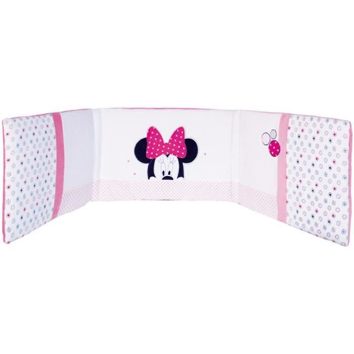 minnie patchwork tour de lit adaptable 40x180cm rose. Black Bedroom Furniture Sets. Home Design Ideas