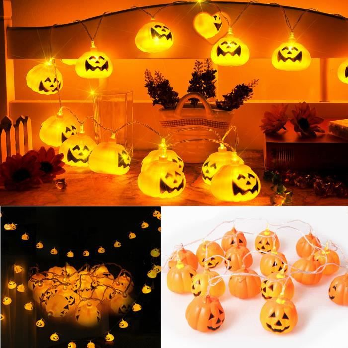 16pcs led lampe de citrouille halloween d coration ebuy - Decoration citrouille pour halloween ...