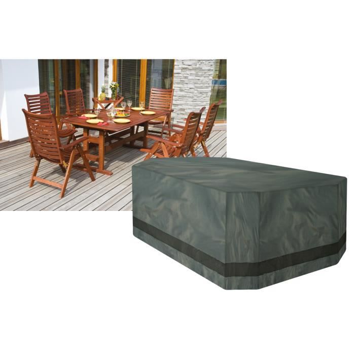 Housse pour salon de jardin rectangulaire 8 10 places dimensions 350 cm de long 190 cm de for Housse table salon de jardin