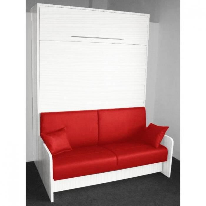 armoire lit escamotable space sofa ch ne blanc achat vente lit escamotable cdiscount. Black Bedroom Furniture Sets. Home Design Ideas