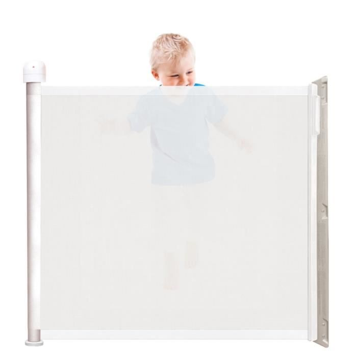 kiddy guard barri re de s curit assure blanc blanc achat vente barri re de s curit. Black Bedroom Furniture Sets. Home Design Ideas