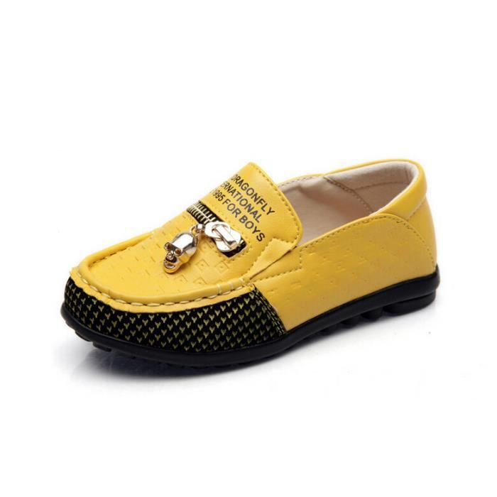 enfant garcon mocassin chaussures slip on jaune achat vente mocassin enfant garcon mocassin. Black Bedroom Furniture Sets. Home Design Ideas