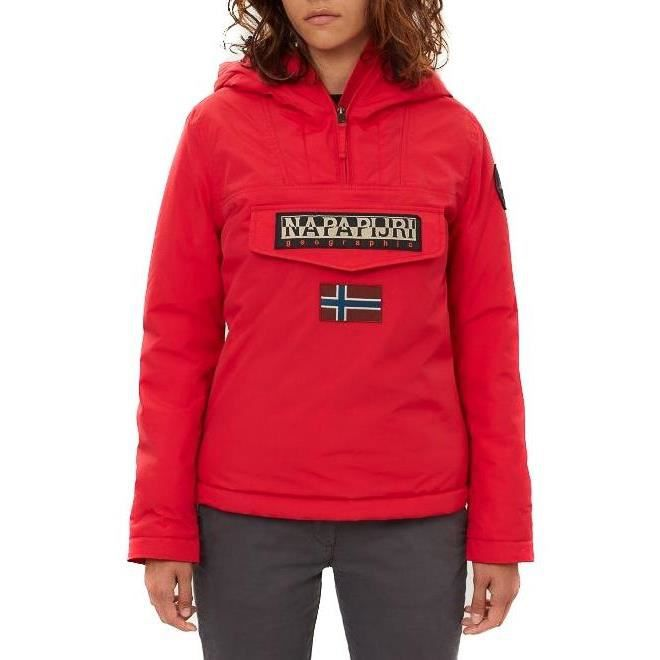 NAPAPIJRI RAINFOREST WINTER Blouson Rouge 100% Polyamide