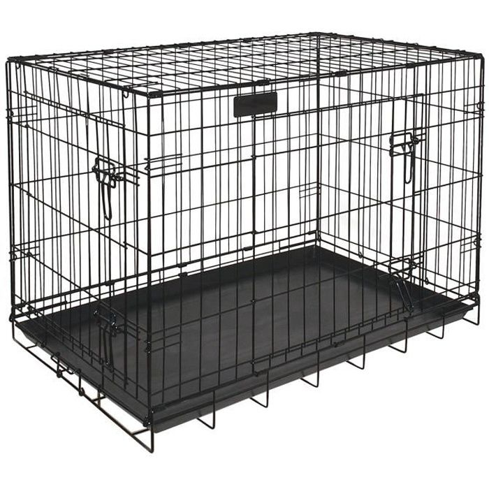 riga cage chiens gm 91x58x66 grands chiens achat vente. Black Bedroom Furniture Sets. Home Design Ideas