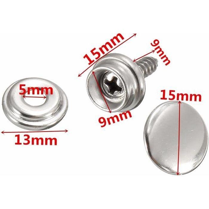 Boite de 20 boutons de jean pression