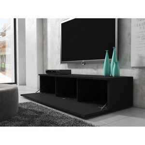 meuble tv 150 cm achat vente meuble tv 150 cm pas cher cdiscount. Black Bedroom Furniture Sets. Home Design Ideas