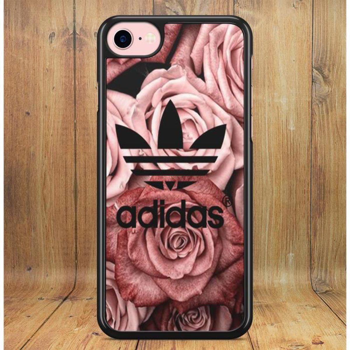 Coque iPhone XS MAX Adidas Roses Fleurs Douceur Romance