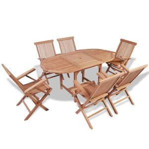Table De Jardin En Teck Massif Rectangulaire Achat Vente Pas Cher