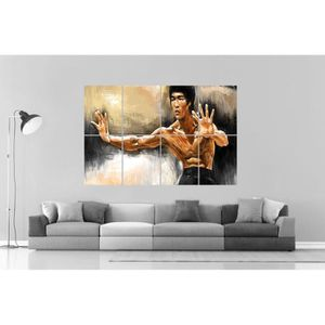 AFFICHE - POSTER BRUCE LEE ART OF WING CHUN Wall Art Poster Grand f