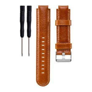 bracelet cuir montre garmin