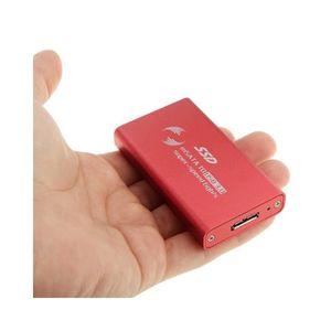DISQUE DUR EXTERNE Boitier rouge Adaptateur Disque dur SSD 6gb/s mSAT