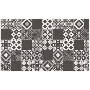 TAPIS DE CUISINE Tapis rectangle 100 x 170 cm vinyle marbella Noir