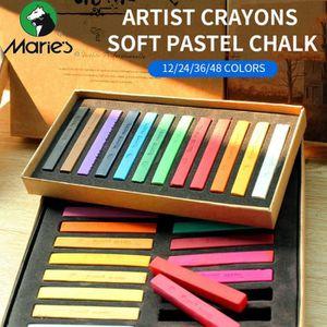 CRAYON DE COULEUR Marie de Peinture Crayons Doux Pastel 48 Couleurs