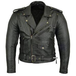 BLOUSON - VESTE blouson cuir moto DJORNO