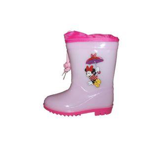 BOTTE bottes de pluie minnie rose clair