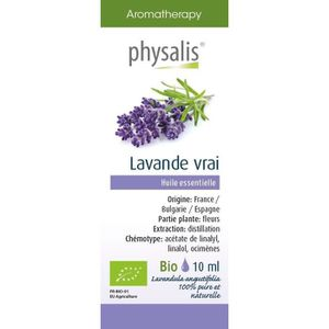 HUILE ESSENTIELLE Physalis huile ESSENTIELLE Lavande vrai 10 ml Bio