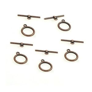 LOT 5 FERMOIRS TOGGLE CARRE NOIR ANTHRACITE POUR CHAINES BRACELETS N°2