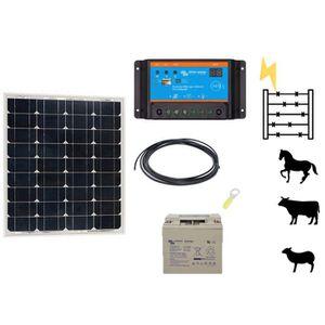 CLÔTURE ÉLECTRIQUE Kit clôture électrique solaire 50w 12v