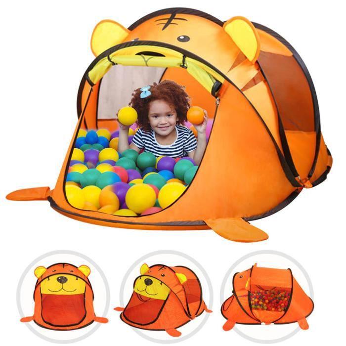 Portable enfants tente dessin animé Animal jouer jouet tente intérieure filets bébé balle piscine fosse jouets-tigre