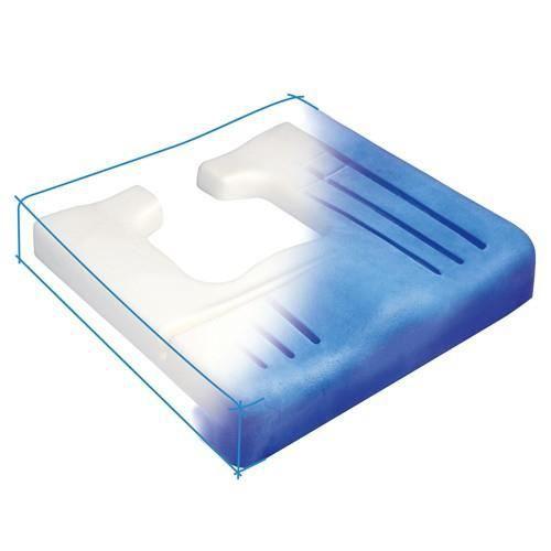 Coussin anti-escarres ergonomique -Viscoflex Plus- - Forme carré - Mousse à mémoire de forme
