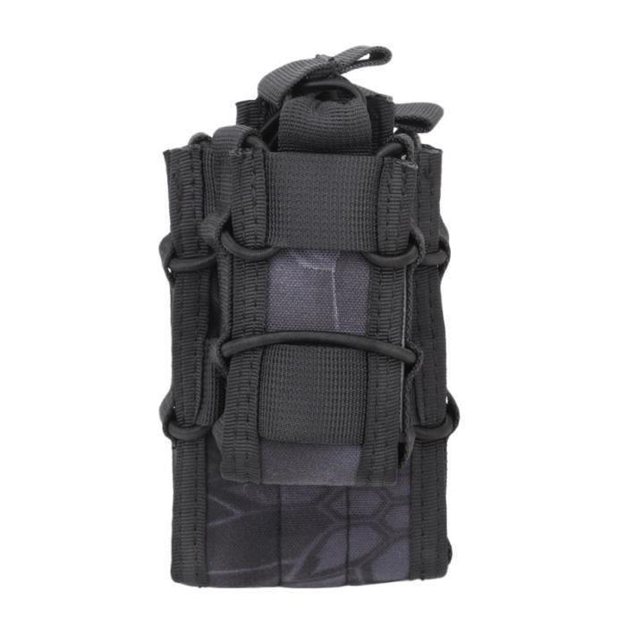Attachement Sous-emballage Système MOLLE Gilet Kit d'accessoires Stockage Sacoche multi-poches Molle pour SAC A DOS DE RANDONNEE